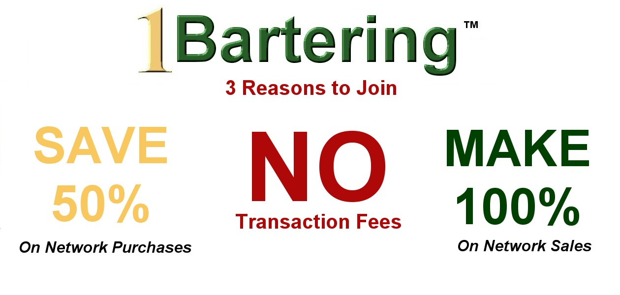 3 Reasons to Join 1 Bartering